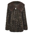 Long Sleeve Light Soft Faux Fur Shrug Coat In Brown