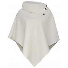 Wool Poncho/Cape Top In Ivory