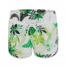Ladies Floral Swimming Shorts in Green
