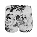 Ladies Floral Swimming Shorts in Grey