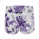 Ladies Floral Swimming Shorts in Purple