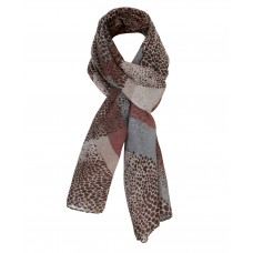 Ladies Animal Print Scarf in Brown