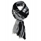 Mens Tartan Print Scarf in Black