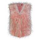 Ladies Feather Gilet H01 in Pink