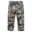 Mens Cargo Shorts in Camo Grey