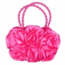 Girls 3D Flower Handbag in Cerise