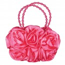Girls 3D Flower Handbag in Coral