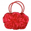 Girls 3D Flower Handbag in Red