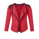 Girls Open Front Jacket in Bright Red
