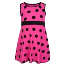 Girls Casual Polka Dot Design Dress in Cerise