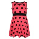 Girls Casual Polka Dot Design Dress in Coral