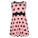 Girls Casual Polka Dot Design Dress in Peach