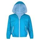 Girls Boys Long Sleeve Windbreaker Jacket in Turquoise