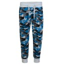 Kids Camouflage Tracksuit Bottoms In Camo Blue