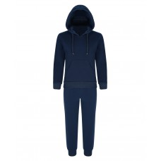 Kids Plain 2 Piece Tracksuit in Navy