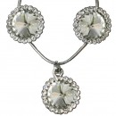Cubic Zirconia Pendant & Earring Set in White