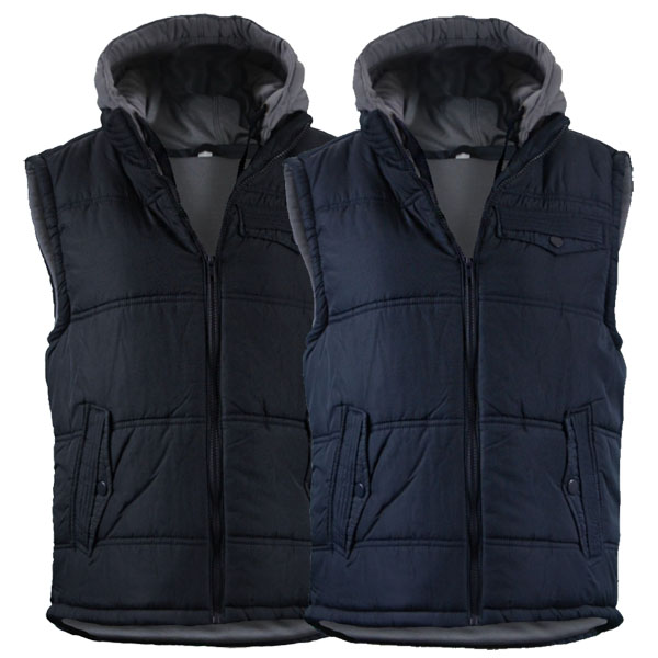 doudoune homme gilet matelasse rembourr veste sans manche capuche amovible ebay. Black Bedroom Furniture Sets. Home Design Ideas