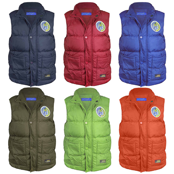 Mountain Warehouse Rocko Kids Padded Gilet - Water Resistant Rain Coat, Microfibre Padded Vest, Two Front Pockets Childrens Jacket - Ideal Body Warmer for Boys & Girls.