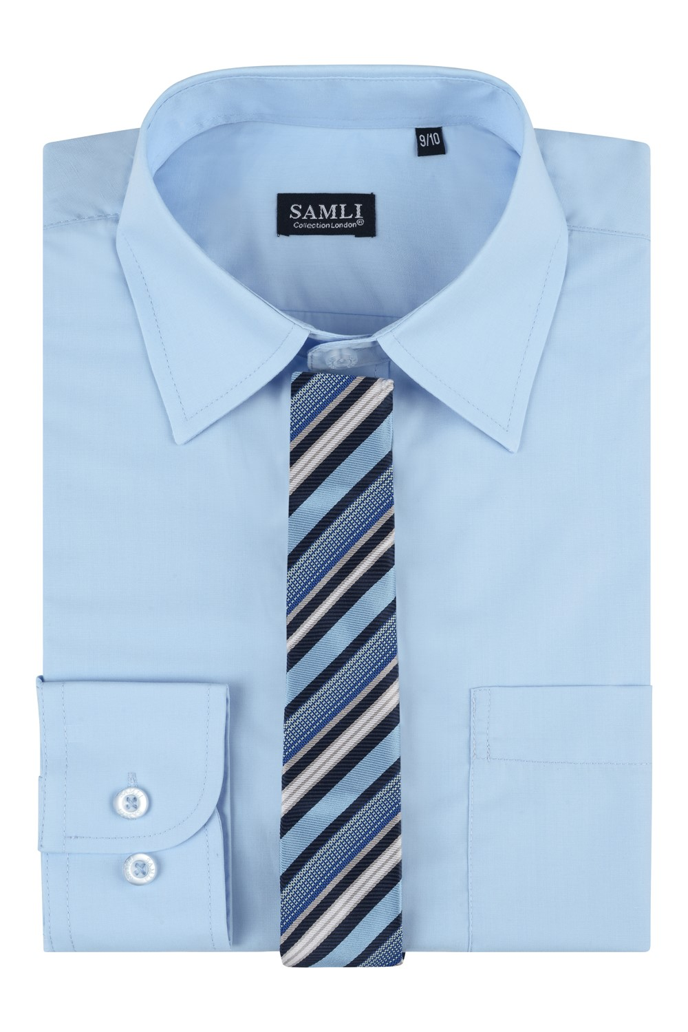 boxed shirt and tie set in glacier