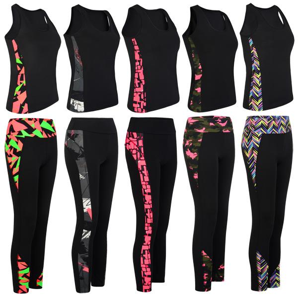Women Side Mesh Panel Ladies Active Gym Sport Leggings Wear Yoga Pants Size XS-L