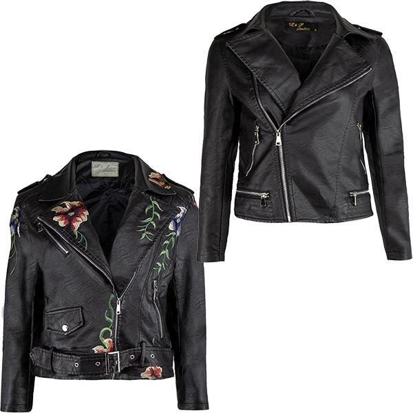9e1624ae92d2b Details about Womens Zip Soft Faux Leather Biker Jacket Ladies Epaulettes  Crop Coat Sizes S-XL