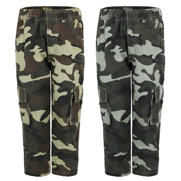Boy/'s Camo  Blue Camouflage Summer Shorts Side Pockets Combat 4-14 Years