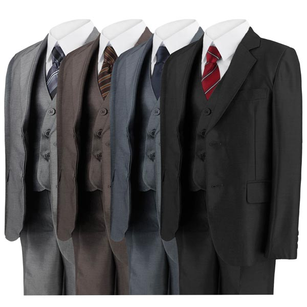 Boys 5 Piece Suits BB Boum Blazer Waistcoat Trouser Shirt Tie Formal Wedding New