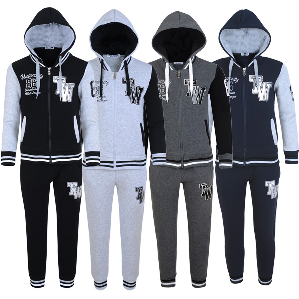 Boys Marl Side Mesh Tracksuit Hoodie /& Bottoms Joggers Kids Joggings Suit Set
