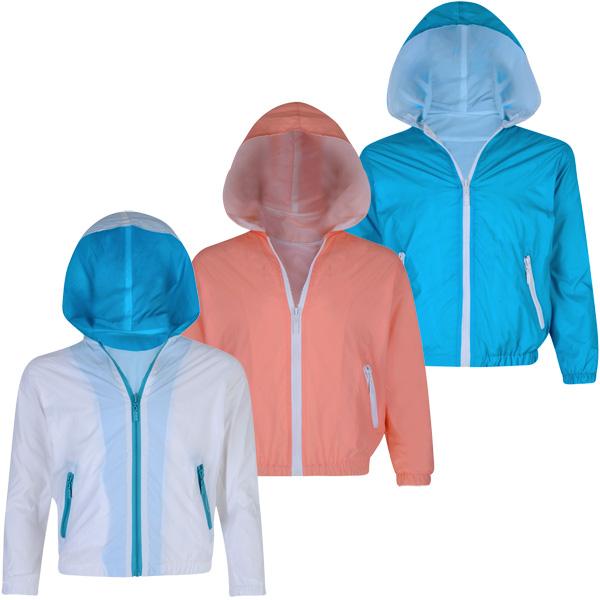 Boys Windbreaker Jacket Brave Soul Kids Coat Hooded Mesh Lined Zip Casual Summer