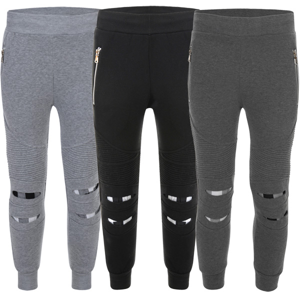 Jogging Teen Boys Tracksuit Pants Girls Sweatpants Kids Ripped 7pSqw5z