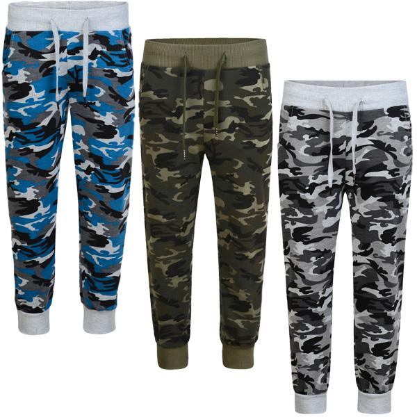 Kids Teenagers Camouflage Tracksuit Bottoms Girls Boys Jogging Sweatpants 3-14 Y