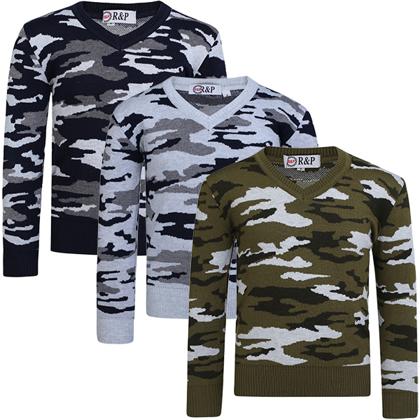 LotMart Kids Pullover Cable Knitted Jumper Boys Long Sleeve Sweater Knit Top