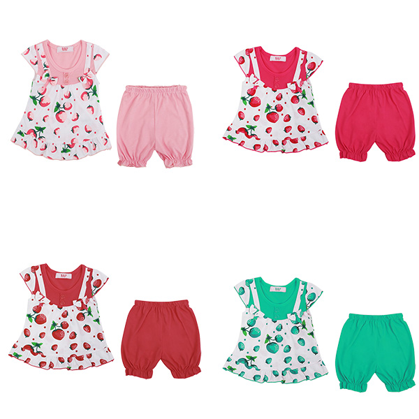 Baby Girls Dress Top and Shorts Toddler 2 Piece Set Outfit Casual Summer 6-36 M